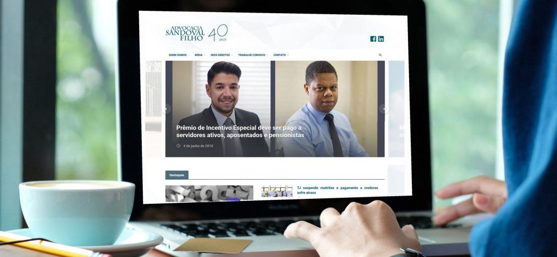 Advocacia Sandoval Filho lança novo site – mais moderno, elegante, mais fácil de navegar