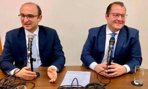 Os advogados Messias Falleiros (esq.) e Luis Renato Avezum (dir.), da Advocacia Sandoval Filho.